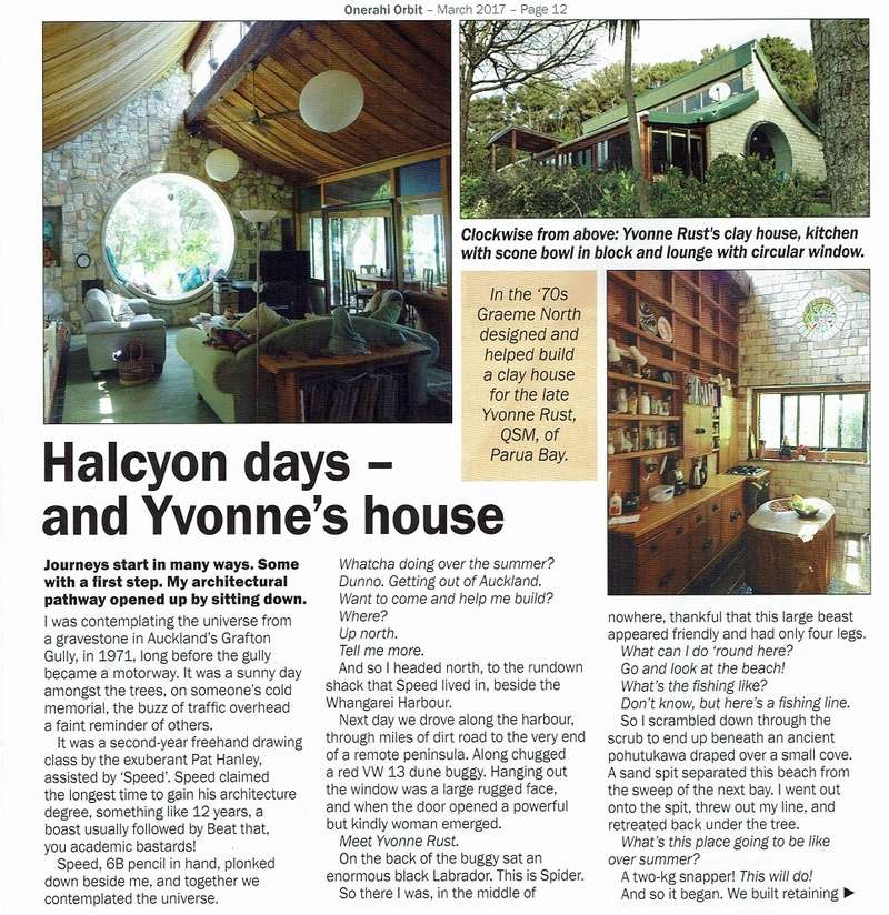 Article about Yvonne Rust's house building Yvonne12
