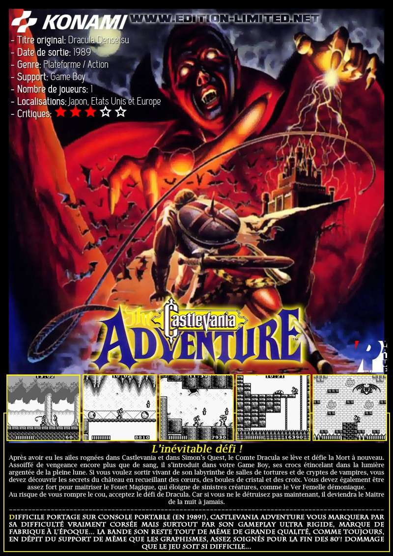 Nintendo Game Boy - Castlevania: The Adventure Castle47