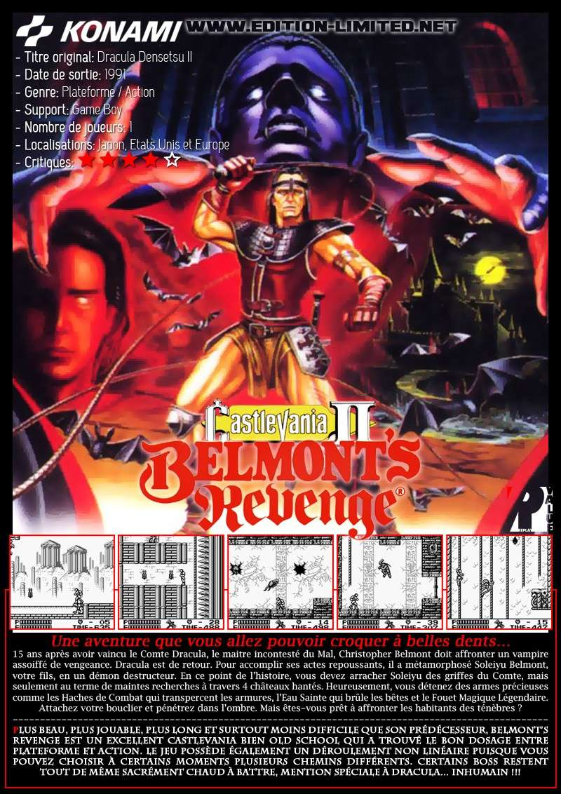 Nintendo Game Boy - Castlevania: Belmont's Revenge Castle63