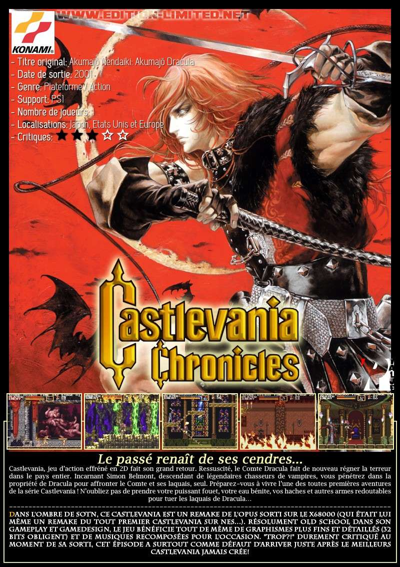 Sony Playstation 1 - Castlevania: Chronicles Castle68