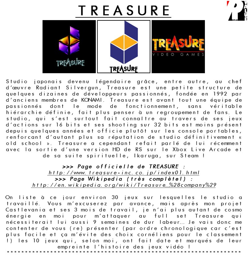 *** TREASURE Video Games *** Treasu22