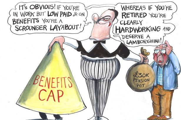 Benefits cap is evidence of Tories' vile political smearing of sick, disabled and jobless poor  Cartoo11