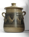 Lidded pot with combed decoration - Probably Bartley Heath Pottery  Full24