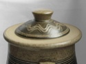 Lidded pot with combed decoration - Probably Bartley Heath Pottery  Lid10