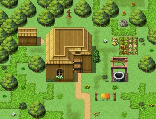 Petite maison simple mais fonctionnelle (intérieur) Maison12