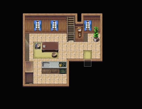 Petite maison simple mais fonctionnelle (intérieur) Tuto0410
