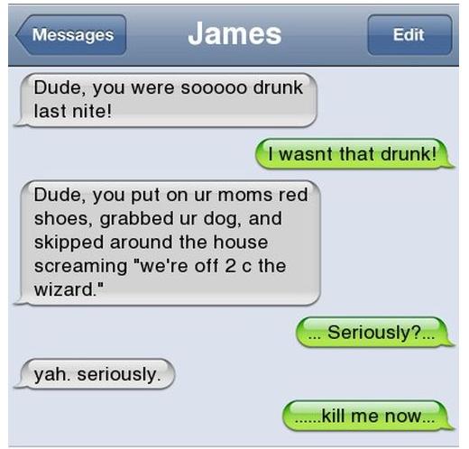I wasn't that drunk... Drunk10