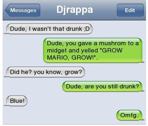 I wasn't that drunk... Drunk110