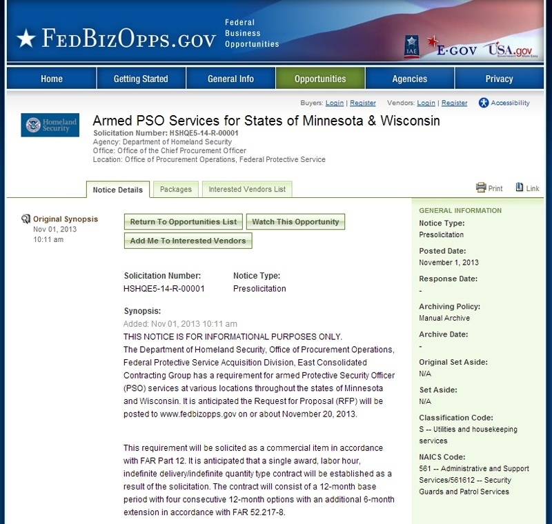 DHS Now Taking Bids For 2 States; Top Secret Force Dhsbid10