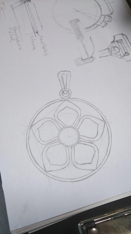 Pendentif fleur grenat cabochon Dsc_0712