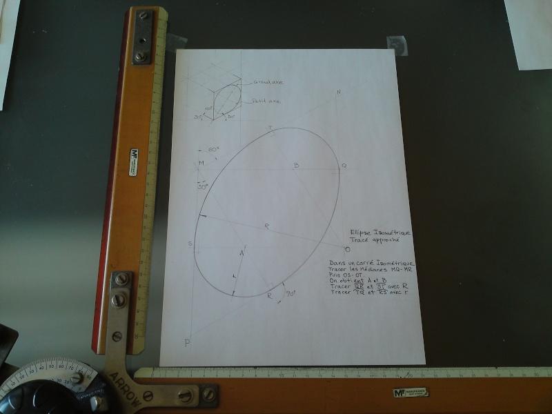 Dessin pour les Nuls N°3  Tracé d'ellipse Isométrique    P23-0113