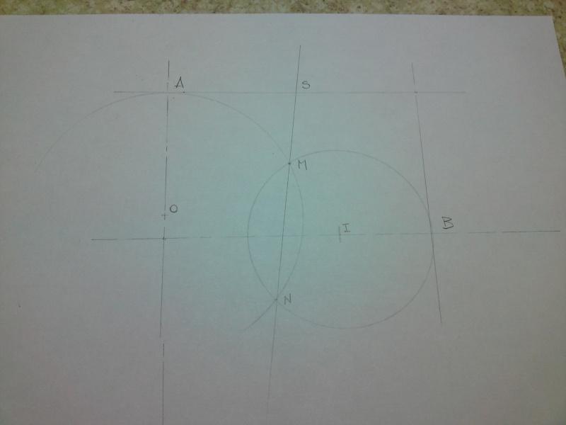 Dessin pour les Nuls N° 4 Tracé d'ellipses ou tracé des arcs tangents à deux cercles P31-0113
