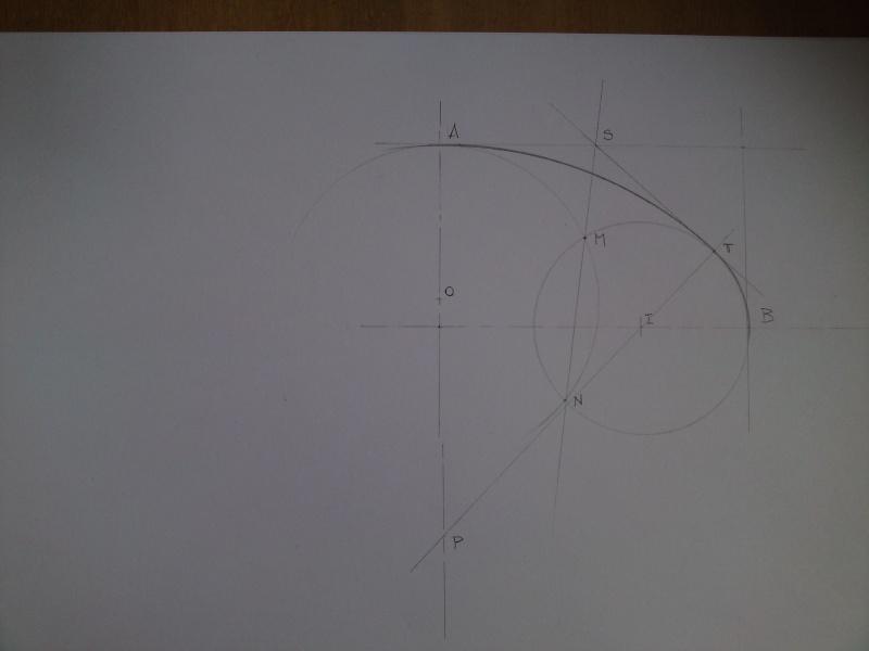 Dessin pour les Nuls N° 4 Tracé d'ellipses ou tracé des arcs tangents à deux cercles P31-0116