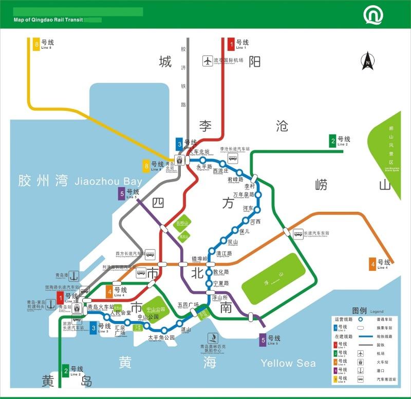 Métro de Qingdao (en cours de construction), ouverture (ligne M3) prévue fin 2014! 20111210