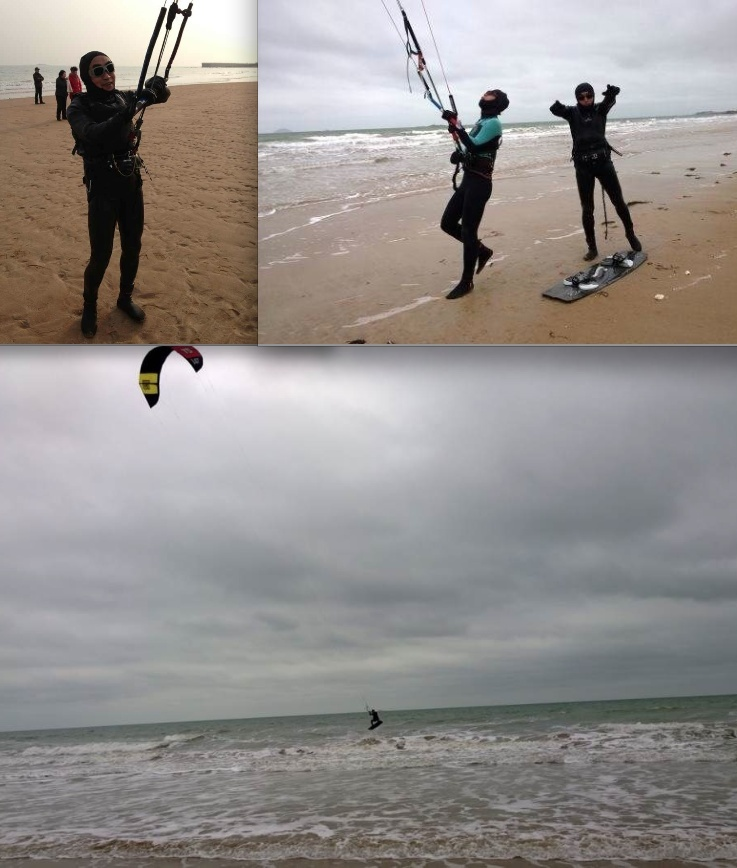 Eh oui! On peut aussi faire du Kitesurf à Qingdao! Captur11