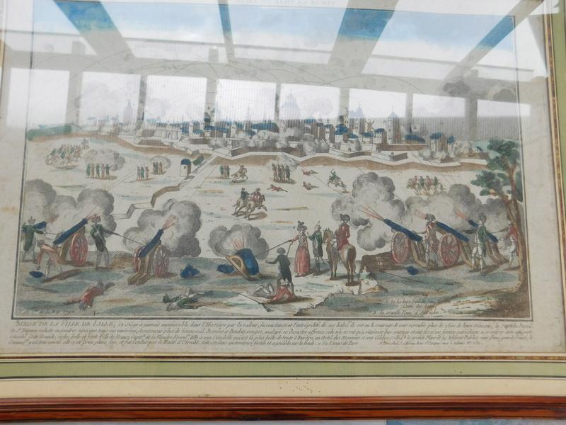 gravure d'époque sur le siege de Lille de 1792 Dscn6024