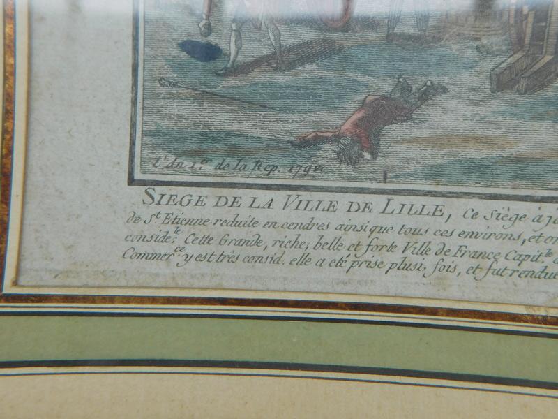 gravure d'époque sur le siege de Lille de 1792 Dscn6025