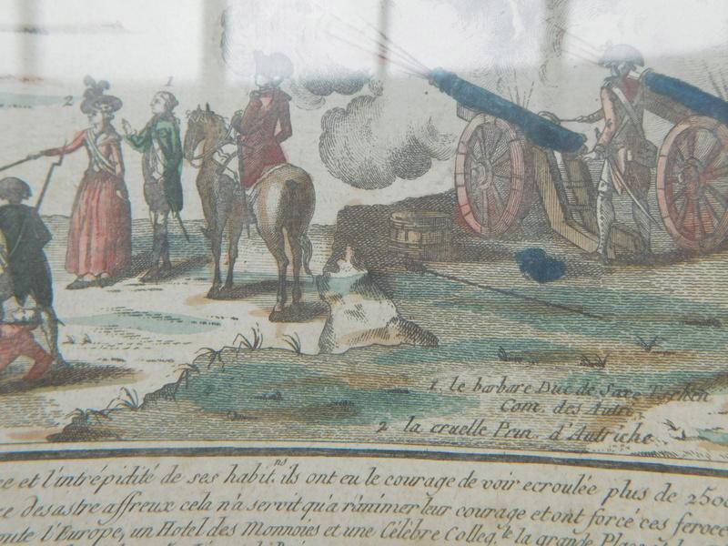 gravure d'époque sur le siege de Lille de 1792 Dscn6026