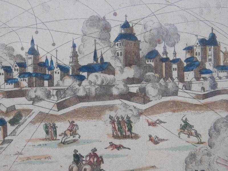 gravure d'époque sur le siege de Lille de 1792 Dscn6027