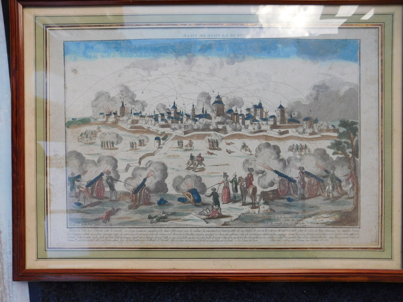 gravure d'époque sur le siege de Lille de 1792 Dscn6028