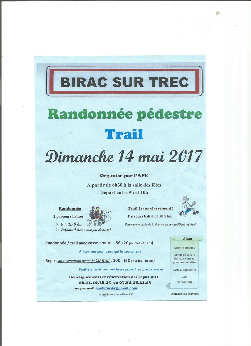course a pied autour de birac/trec Ape10