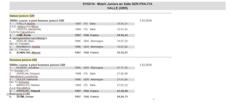 Match Juniors Salle - GER - FRA - ITA - HALLE (GER) 1er Mars 1_mj10