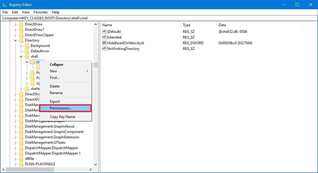 [Guide] Hướng dẫn mở lại Command Prompt trên Windows 10 Regedi10