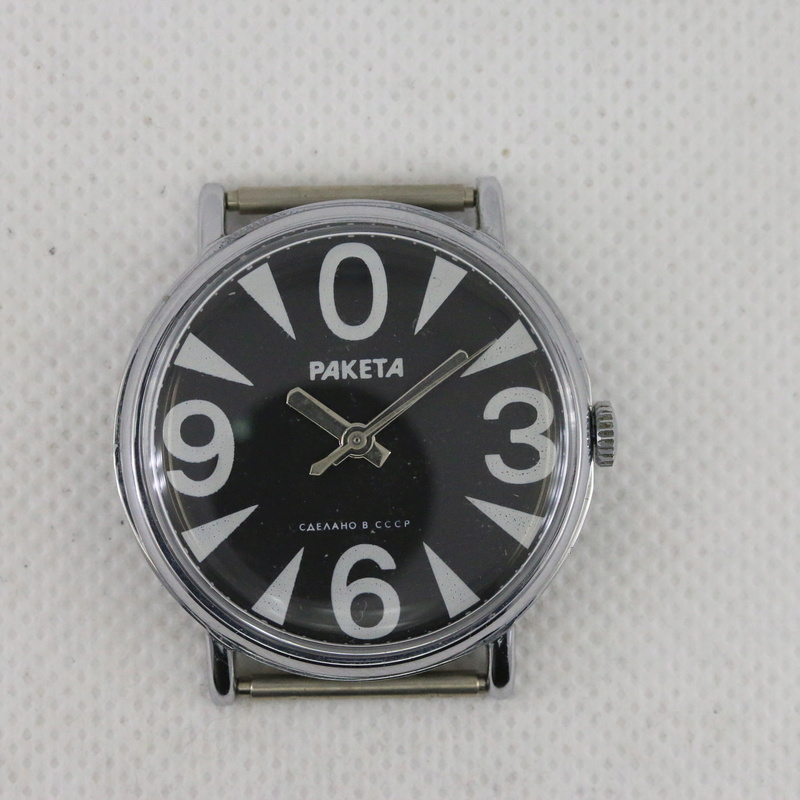 [Vendue] New without tags USSR RAKETA ZERO Black mini guarantee  0_209010