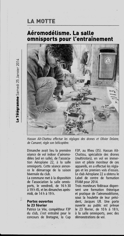 Le Télégramme 25 Janvier 2014 Presse12