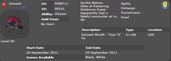 [Distribution] Zoroark EVENT11 Captur10