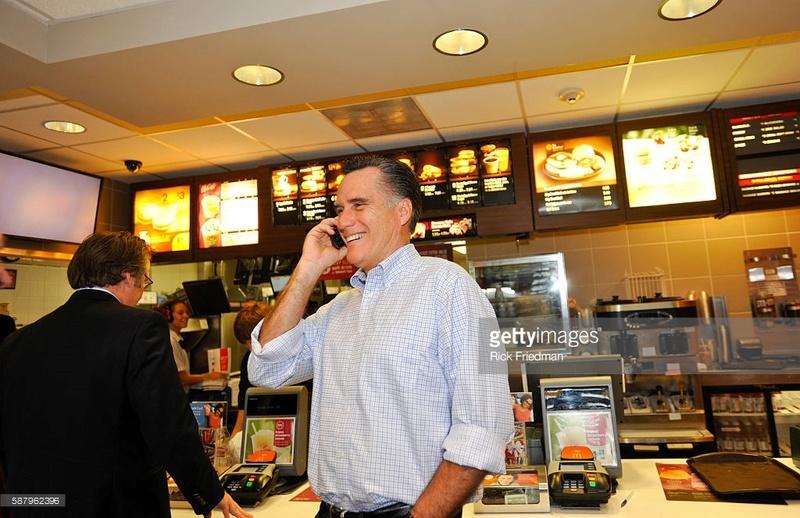 Mitt Romney at McDonald's 58796211
