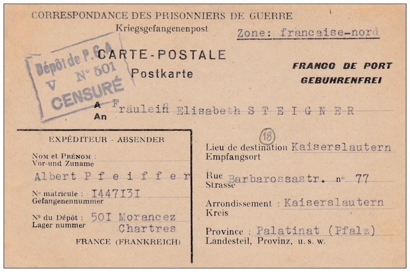 Lettre de correspondance de prisonniers de guerre allemands en France (Morancez dépôt N° 501) 327_0010