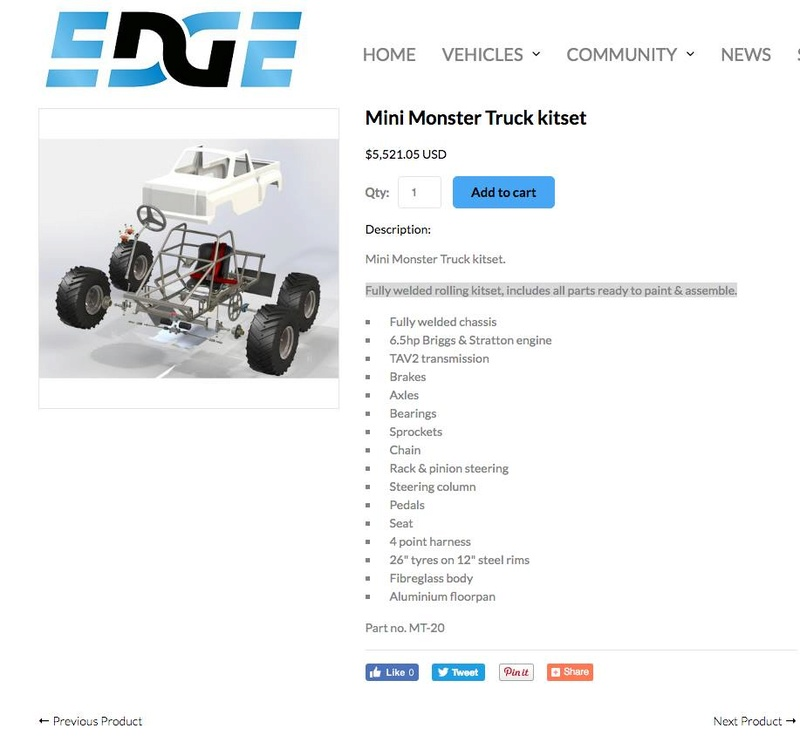My personal review and comments on the: Mini Monster Truck Plans from The Edge Products. 17309710