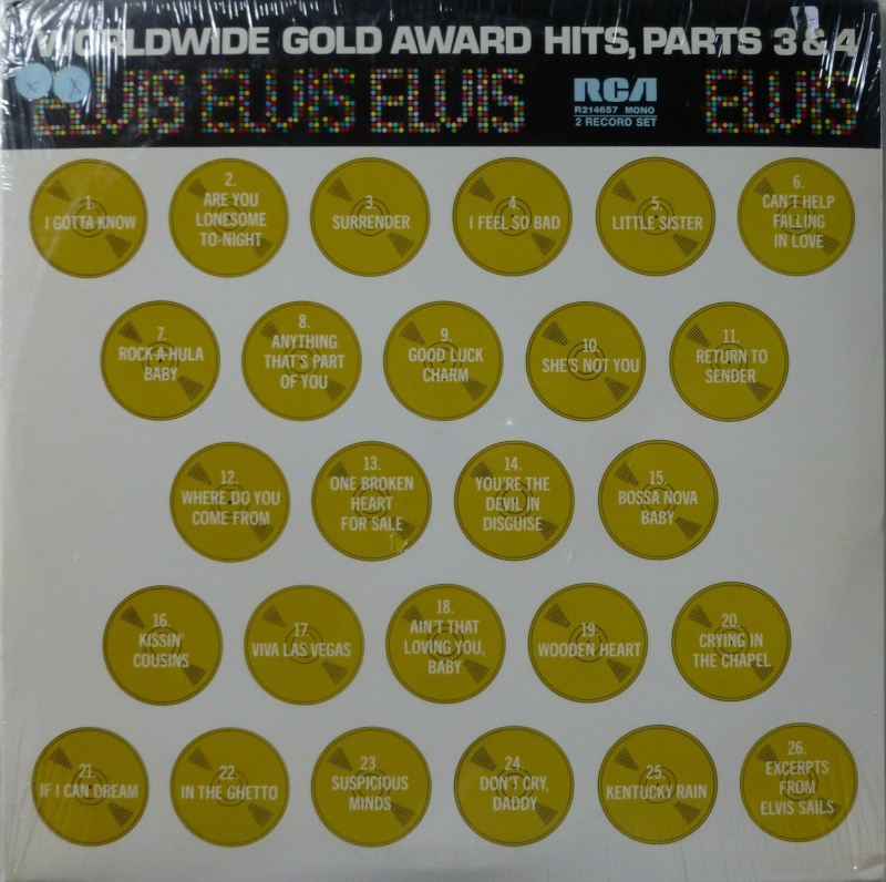WORLDWIDE GOLD AWARD HITS, PARTS 3 & 4 16_wor10