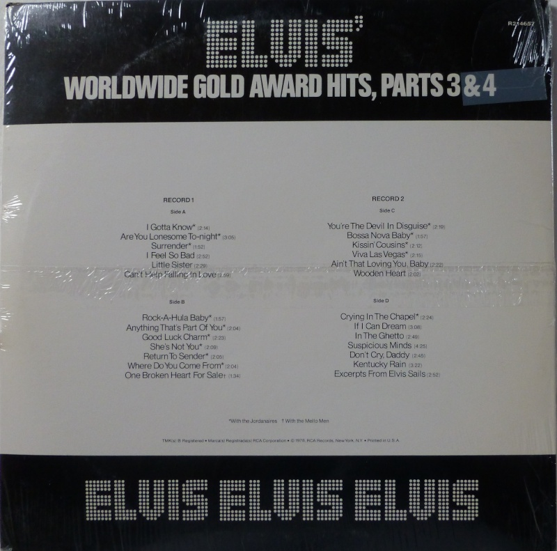 WORLDWIDE GOLD AWARD HITS, PARTS 3 & 4 16a10
