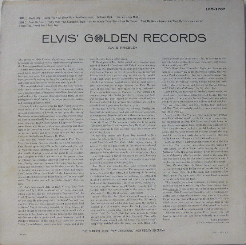 ELVIS' GOLD RECORDS  1a42