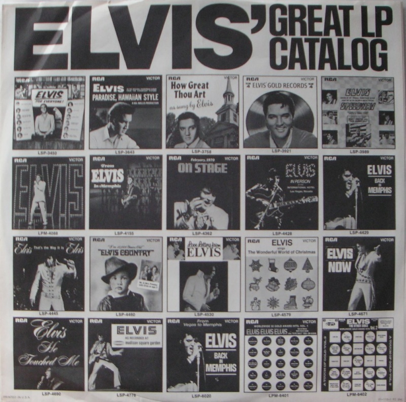 ELVIS SPECIAL PRODUCTS ON TV / ELVIS COMMEMORATIVE ALBUM 1c16