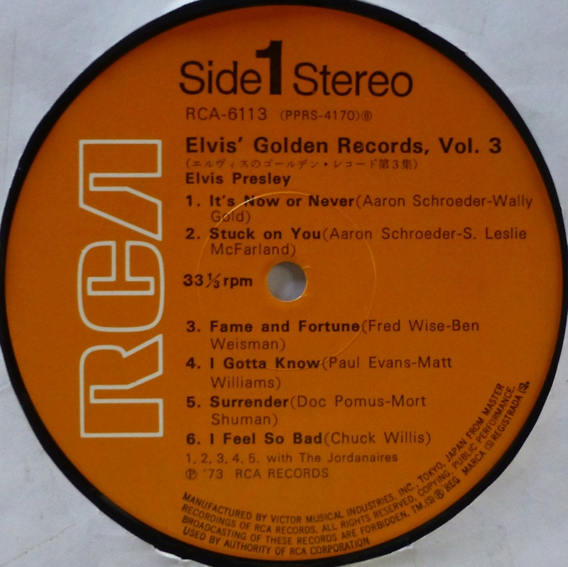 ELVIS' GOLDEN RECORDS VOL. 3 1f38