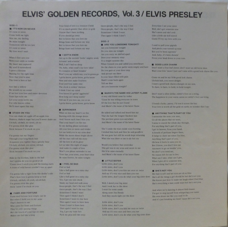 ELVIS' GOLDEN RECORDS VOL. 3 1h23
