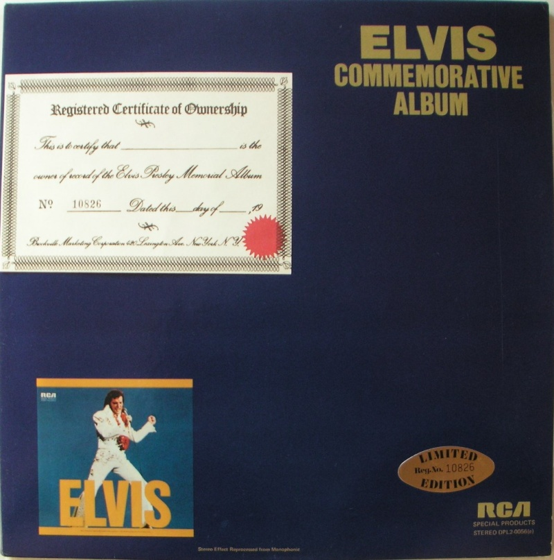 ELVIS SPECIAL PRODUCTS ON TV / ELVIS COMMEMORATIVE ALBUM 410