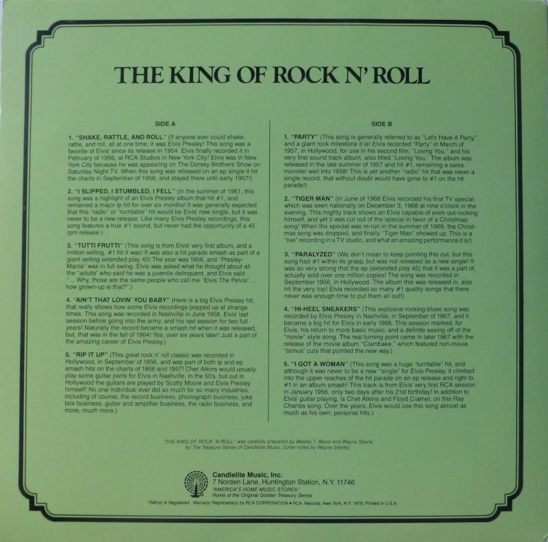 THE LEGENDARY RECORDINGS OF ELVIS PRESLEY 4a10