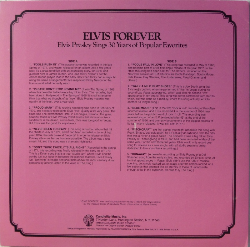 THE LEGENDARY RECORDINGS OF ELVIS PRESLEY 6a10