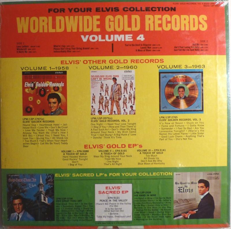 ELVIS' GOLD RECORDS VOL 4 P1000428