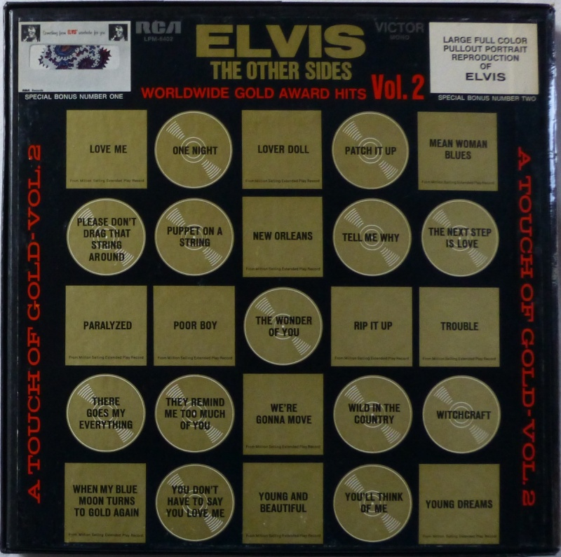 WORLDWIDE GOLD AWARD HITS VOL. 2 (ELVIS THE OTHER SIDES) P1000612