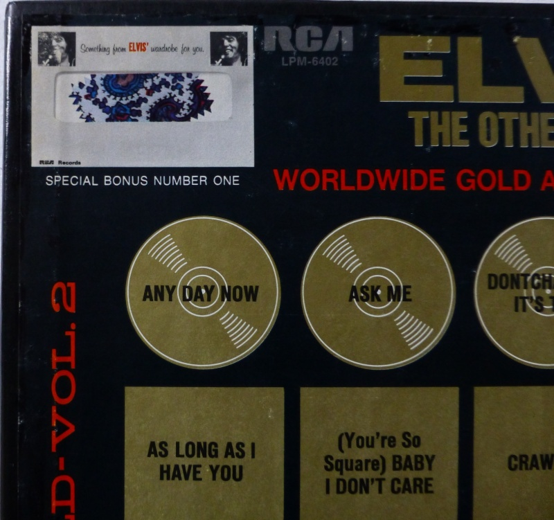 WORLDWIDE GOLD AWARD HITS VOL. 2 (ELVIS THE OTHER SIDES) P1000613