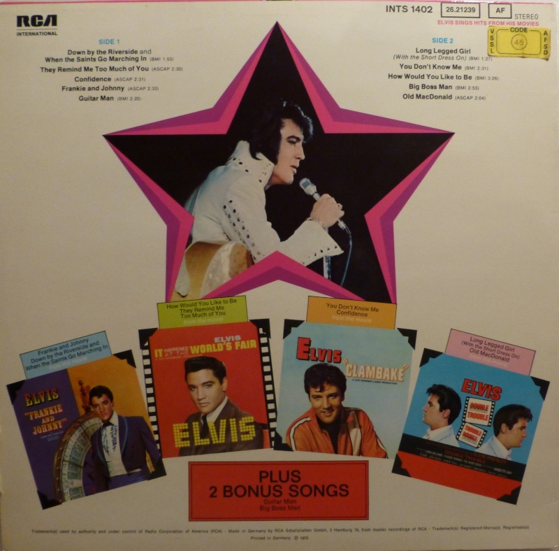 ELVIS SINGS HITS FROM HIS MOVIES-VOLUME 1 P1010222