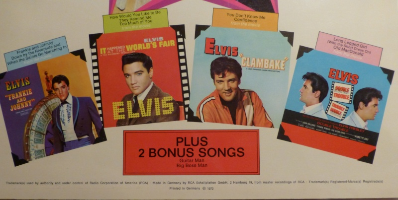 ELVIS SINGS HITS FROM HIS MOVIES-VOLUME 1 P1010224