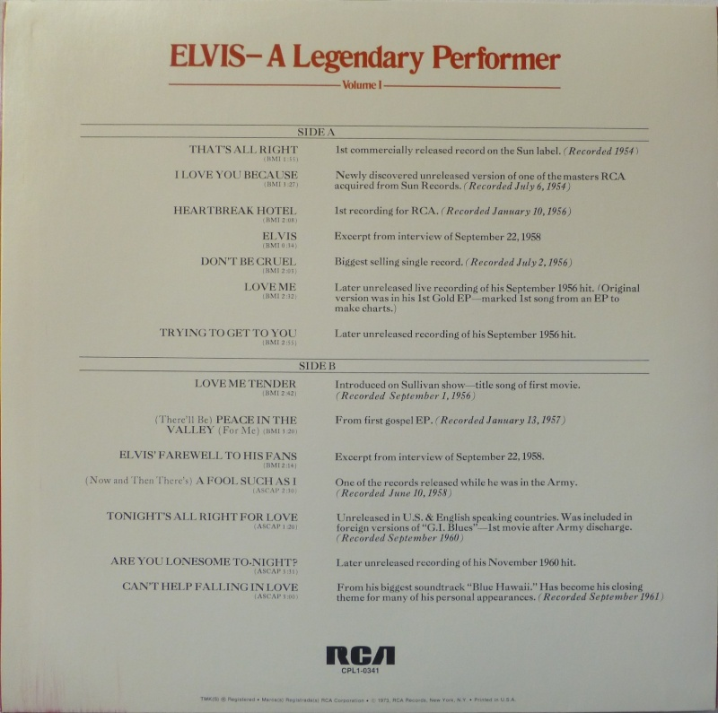 A LEGENDARY PERFORMER - VOLUME 1 P1020714