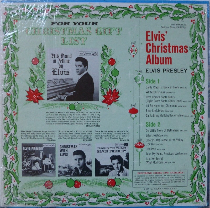 ELVIS' CHRISTMAS ALBUM P1020722