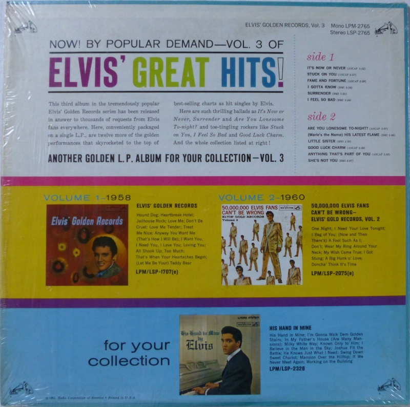 ELVIS' GOLD RECORDS VOL 3 P1020822